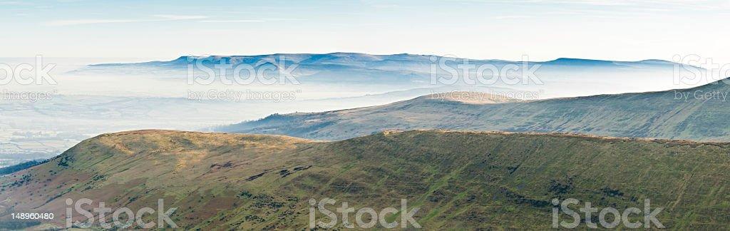 Quiet misty mountain vista royalty-free stock photo