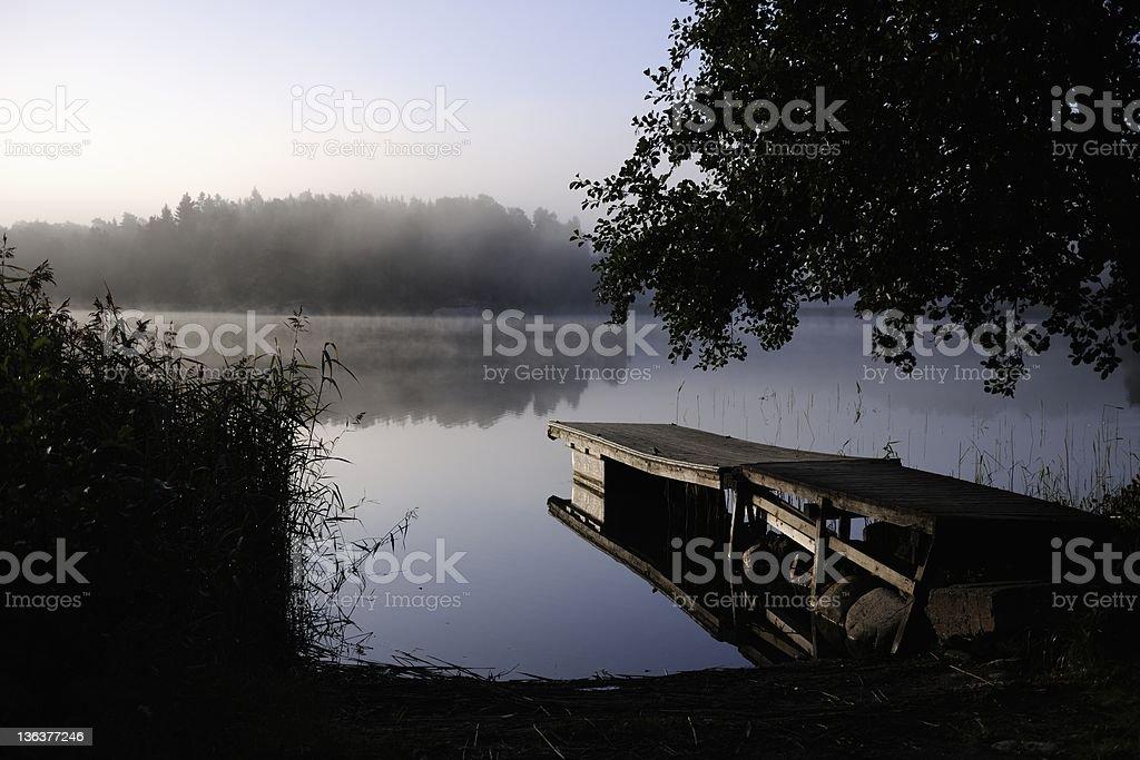 Quiet morning in the archipelago stock photo