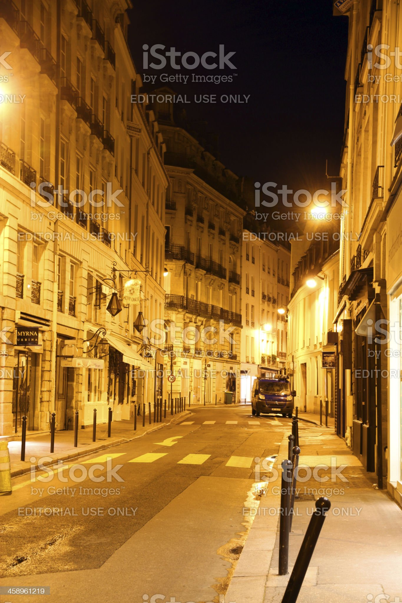 Quiet Paris Side Streets royalty-free stock photo