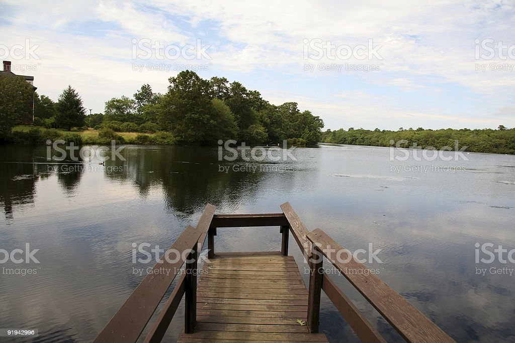 Quiet Pier by the Lake royalty-free stock photo