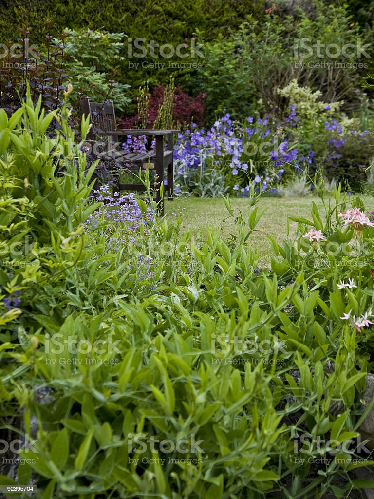 Quiet place to enjoy the garden royalty-free stock photo
