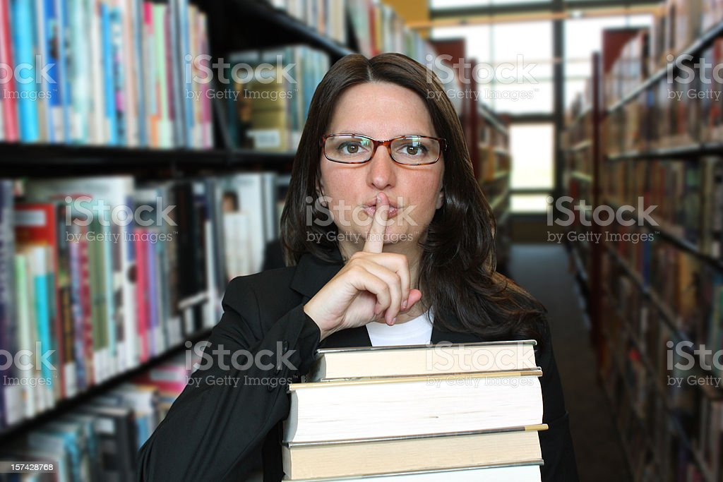 Quiet, Please! royalty-free stock photo