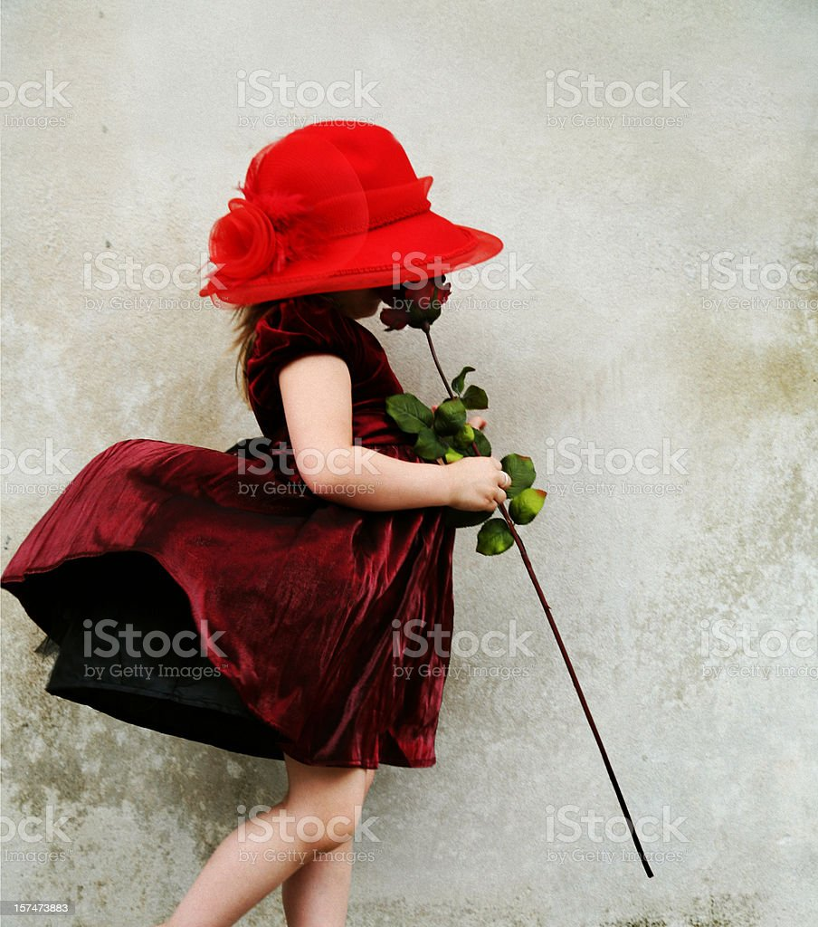 Quiet reflections of a little girl royalty-free stock photo