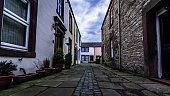 Quiet residential side street in Brampton, Cumbria