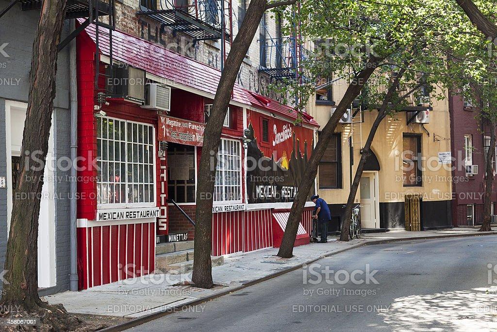 Quiet Residential Street in Greenwich Village New York stock photo