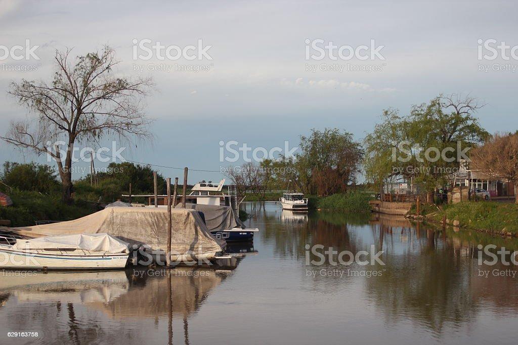 Quiet river stock photo