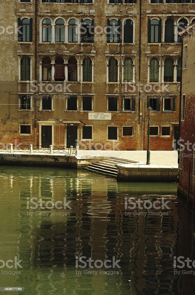 Quiet square in Venice stock photo