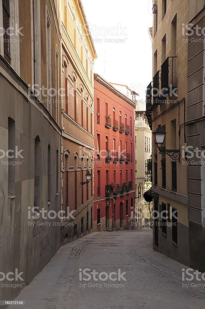 Quiet street, Madrid royalty-free stock photo