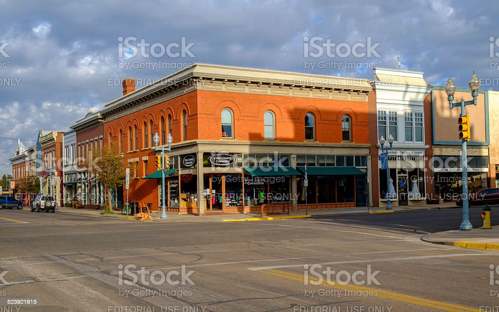 Quiet Sunday morning in Laramie, WY. stock photo