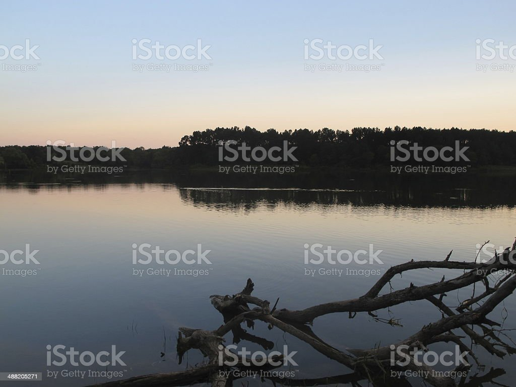 Quiet Texas Sunset stock photo