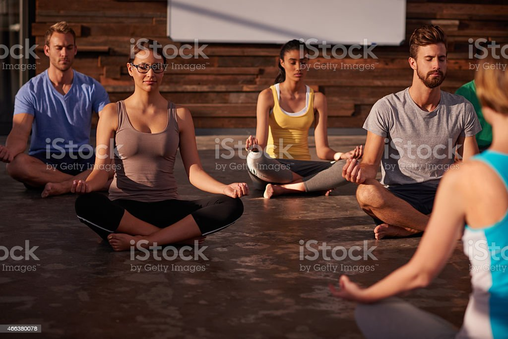 Quiet the mind and the soul will speak stock photo