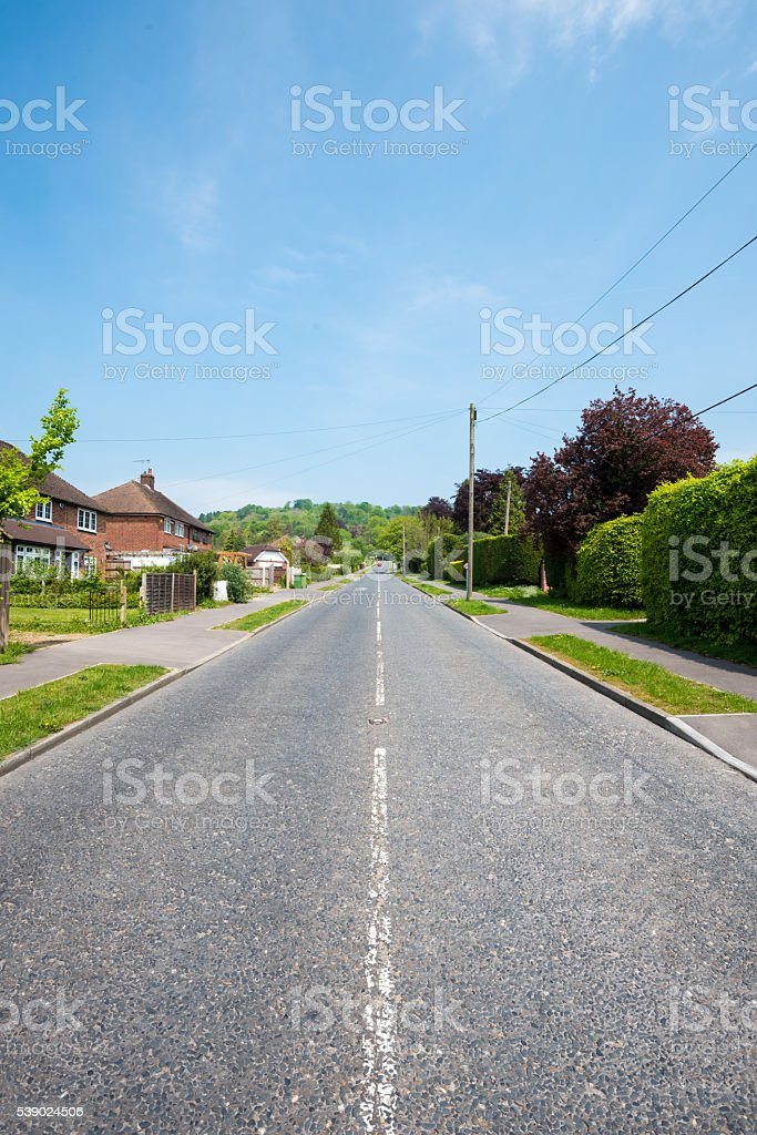 Quiet Village Strret stock photo