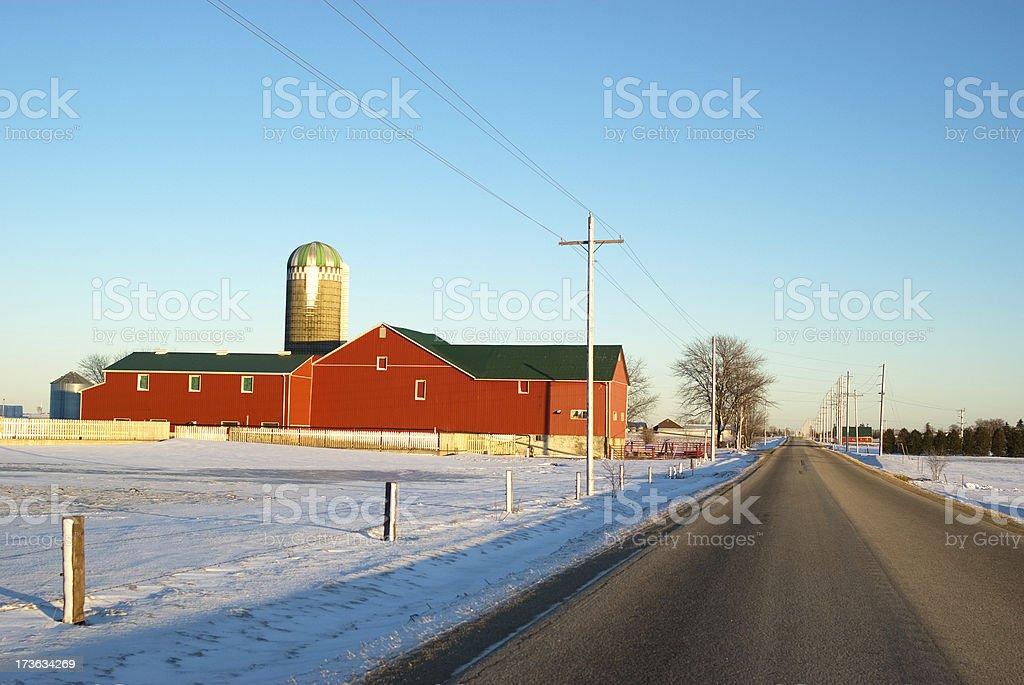Quiet Winter Sideroad stock photo