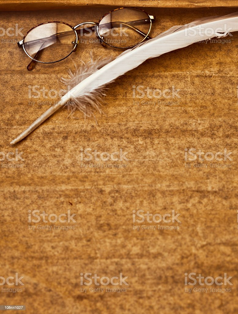 Quill feather royalty-free stock photo