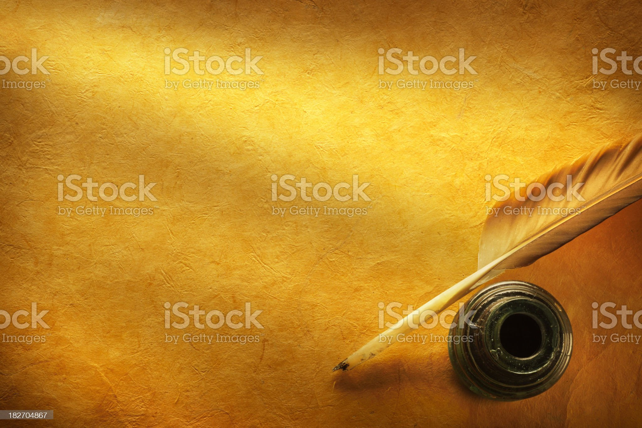 Quill & Inkwell royalty-free stock photo
