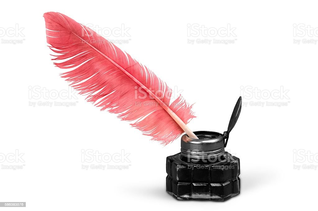 Quill pen stock photo