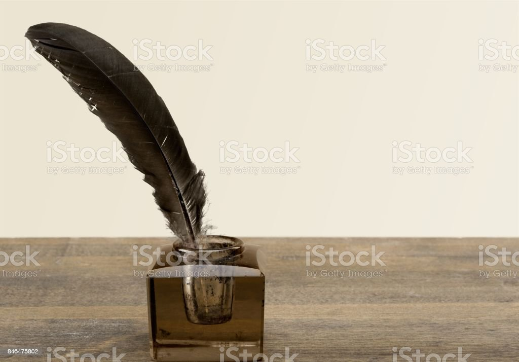 Quill. stock photo