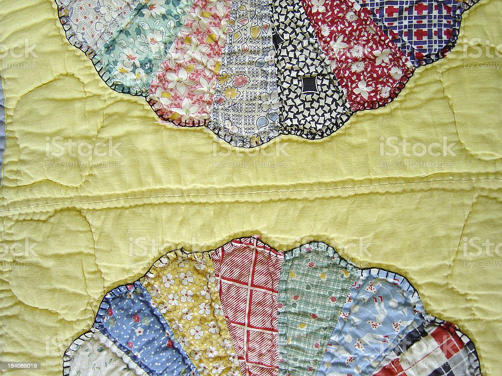 Quilt Abstraction I stock photo