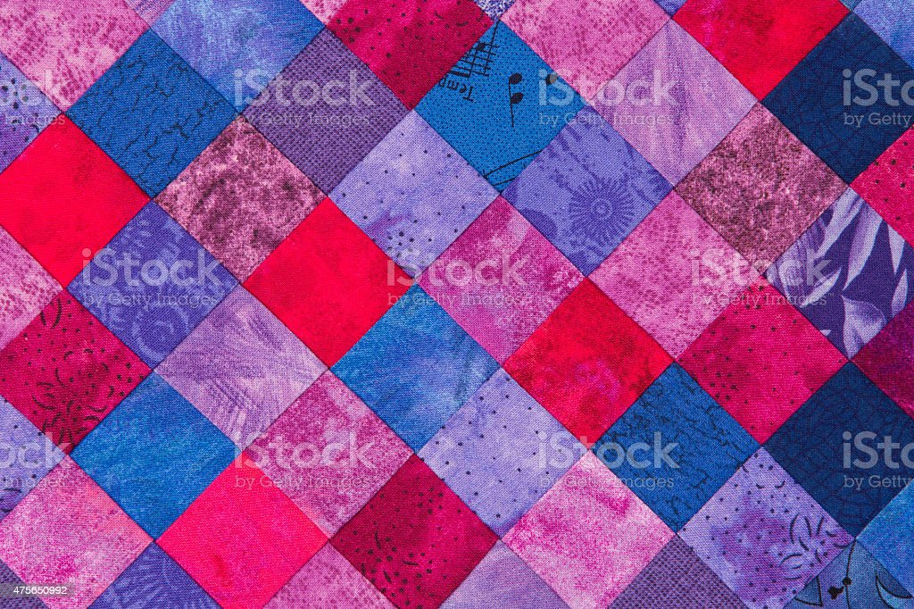 Quilt background stock photo
