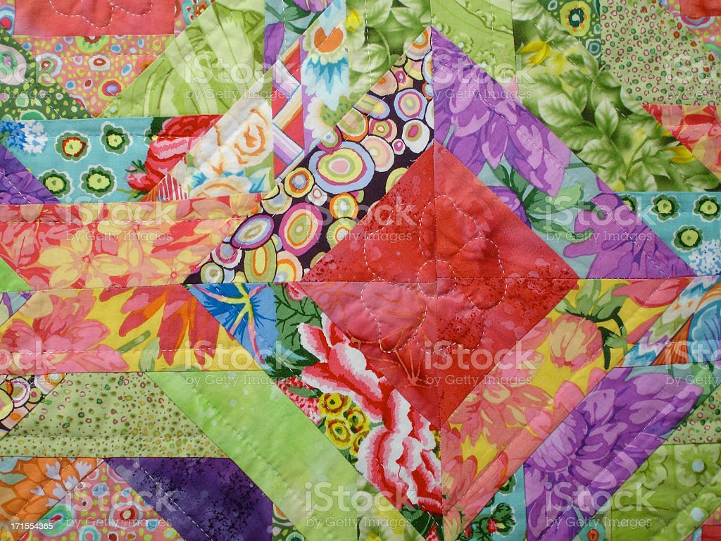 Quilt Background Red Diamond stock photo