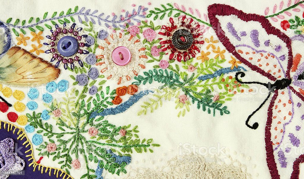 Quilt Embroidery royalty-free stock photo