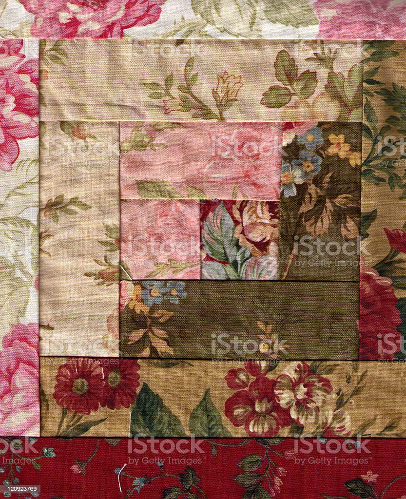 Quilt Floral Pattern stock photo