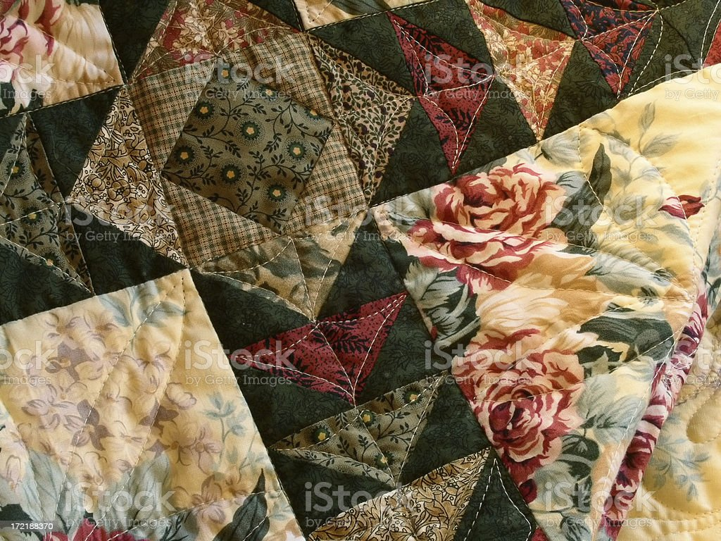 Quilt - Geese Through the Garden royalty-free stock photo