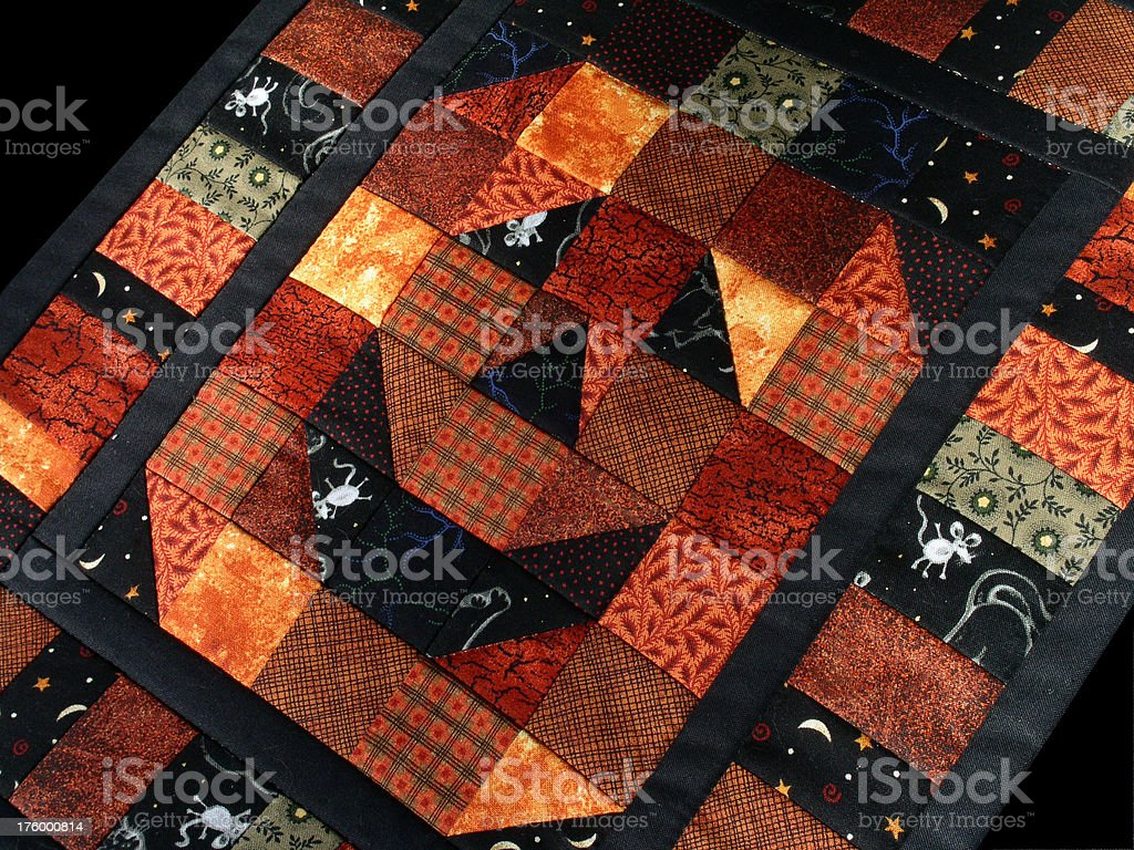 Quilt - Jack o'Lantern royalty-free stock photo