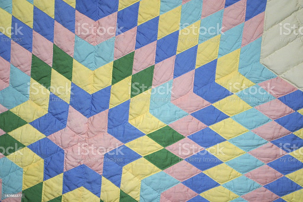 Quilt Pattern 1 royalty-free stock photo