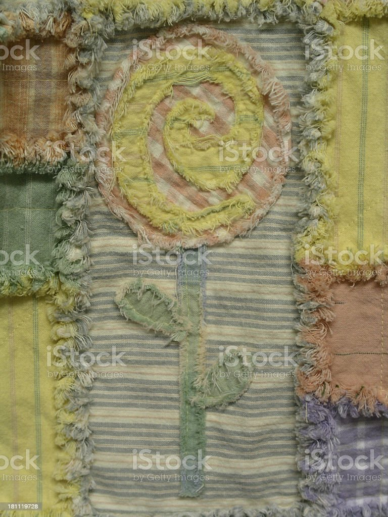 Quilt - Pick A Posy 1B stock photo
