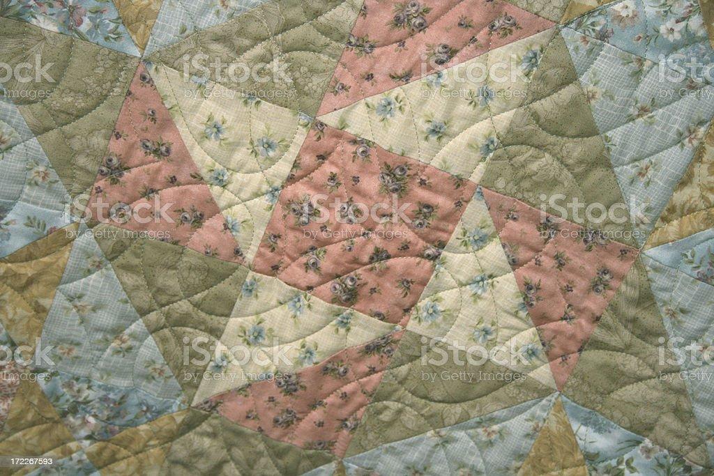 Quilt – Pinwheel Star stock photo