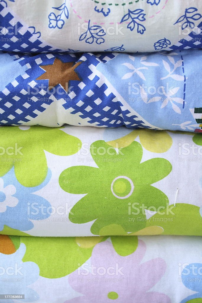 Quilt Stack royalty-free stock photo