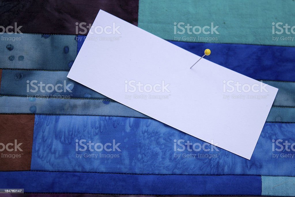 Quilt Top with Copy Space stock photo