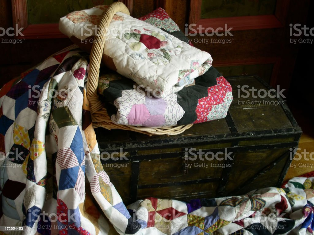 Quilt Trunk stock photo
