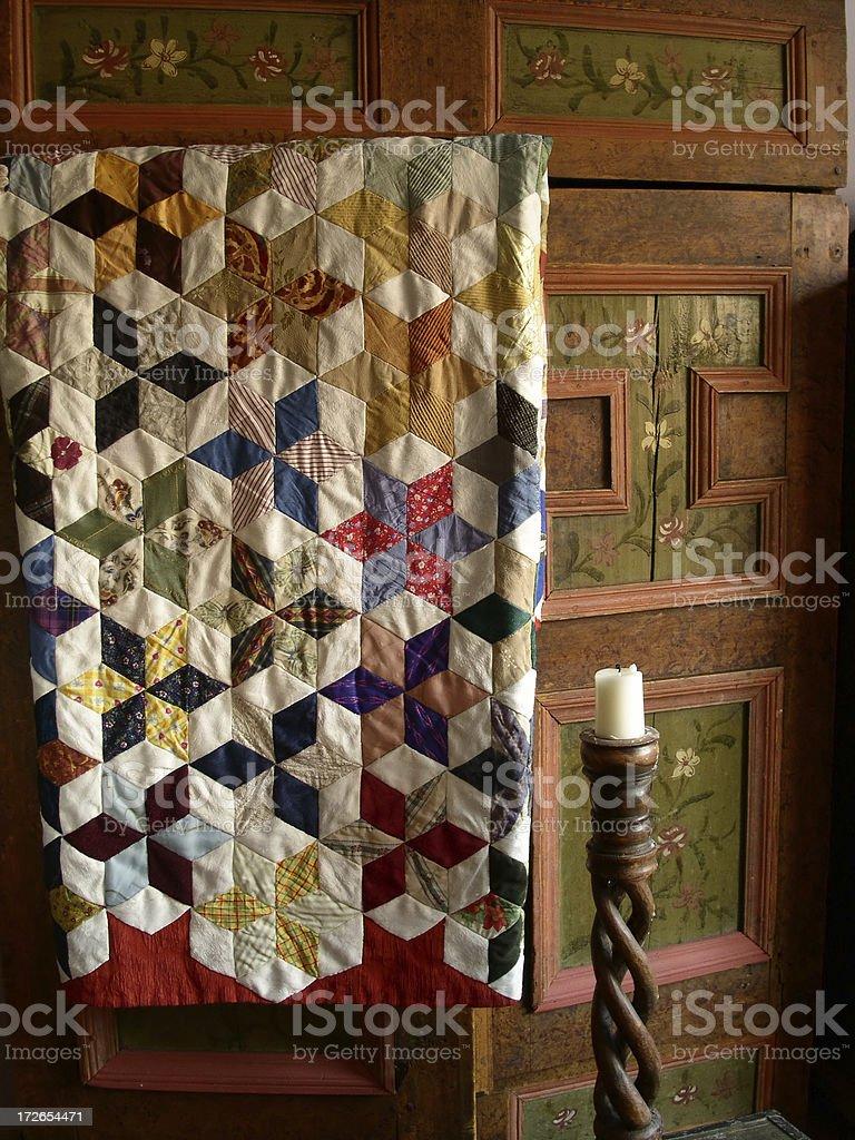 Quilt Wardrobe stock photo