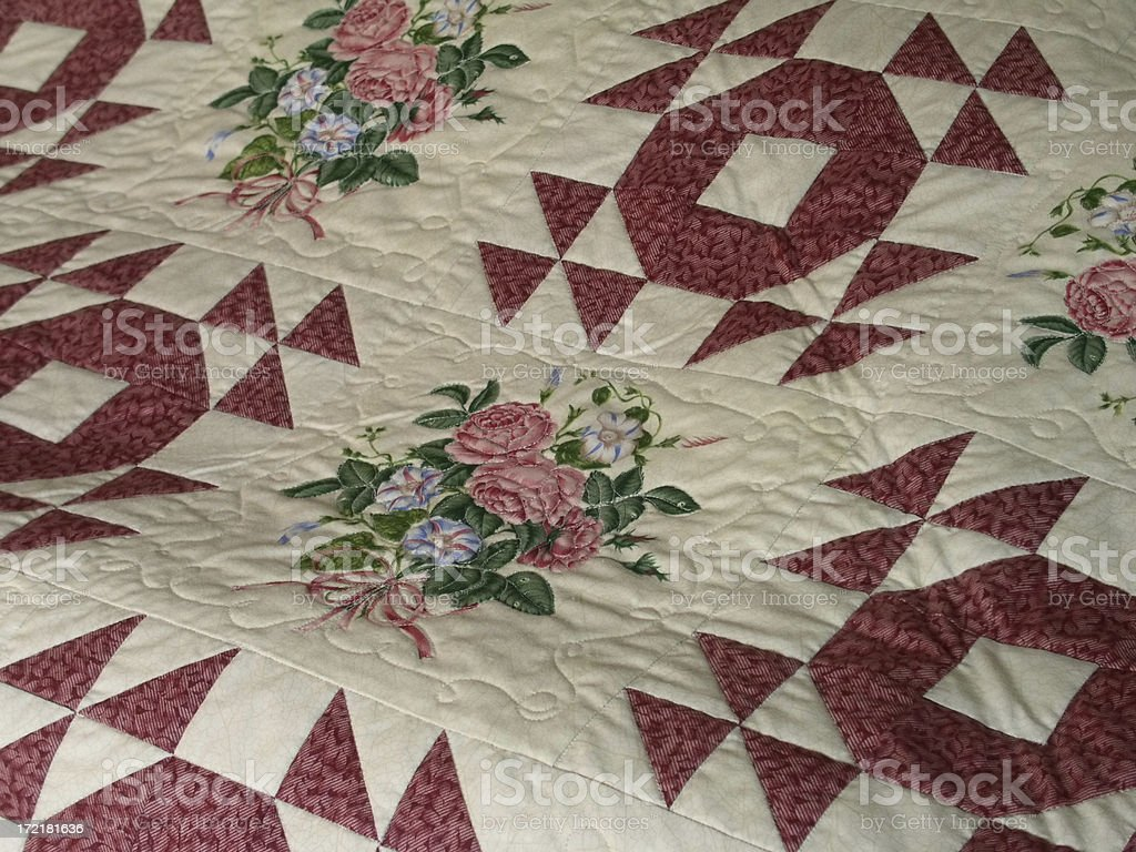 Quilt - Wedding Roses royalty-free stock photo