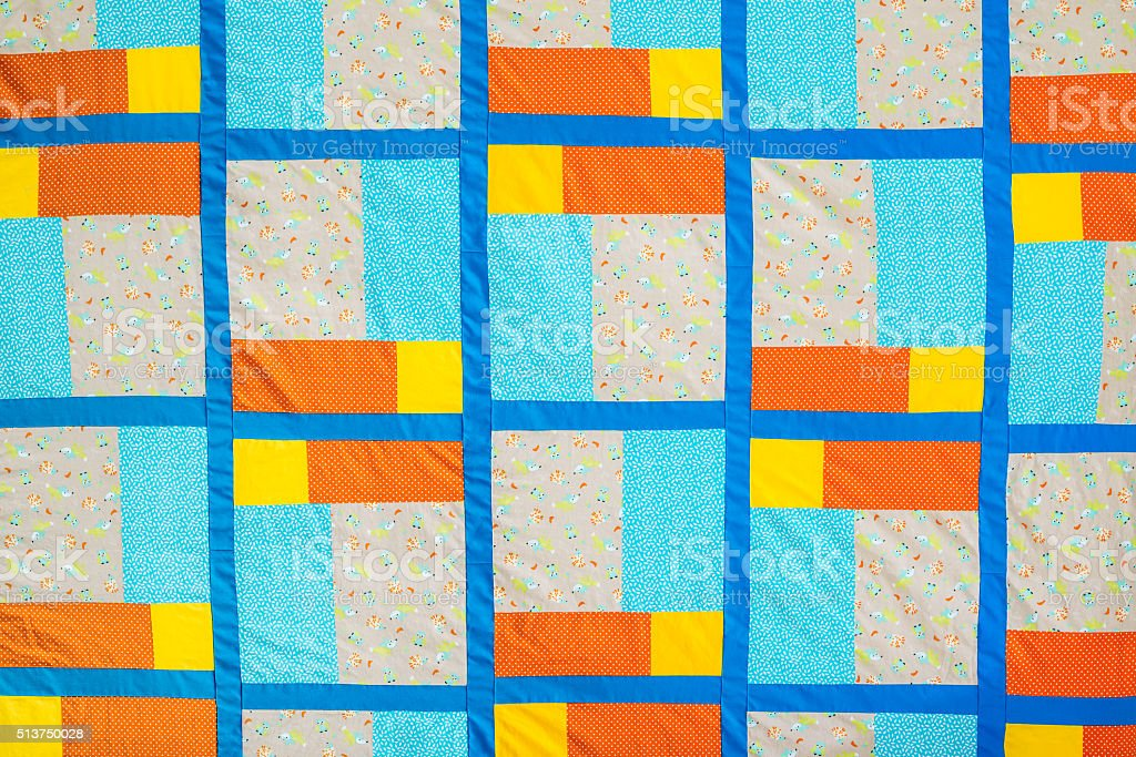 Quilt with different motives stock photo