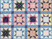 Quilt with star motives