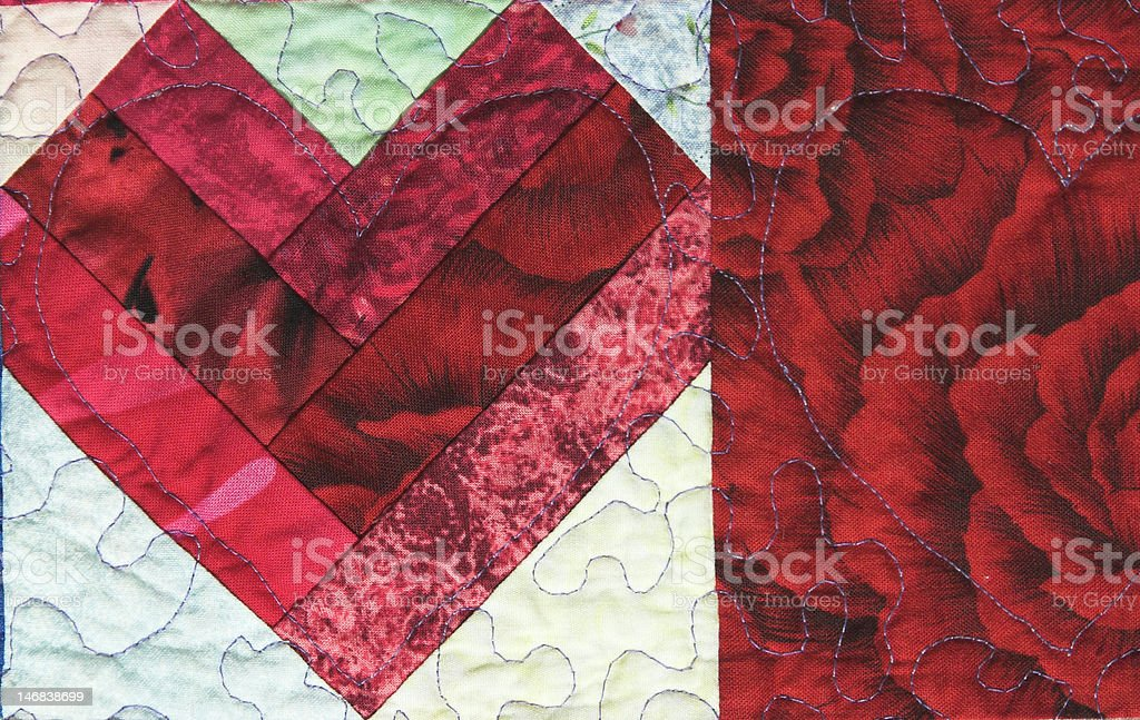 Quilted Heart royalty-free stock photo