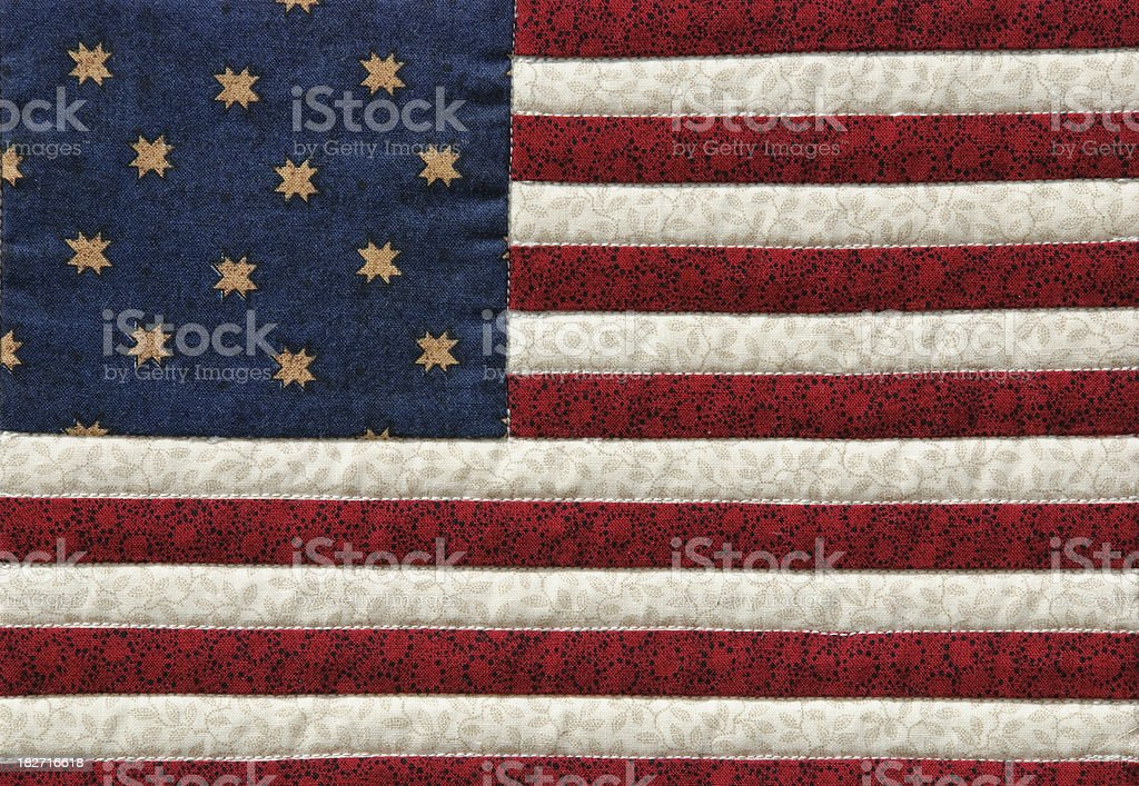 Quilted U.S. Flag royalty-free stock photo