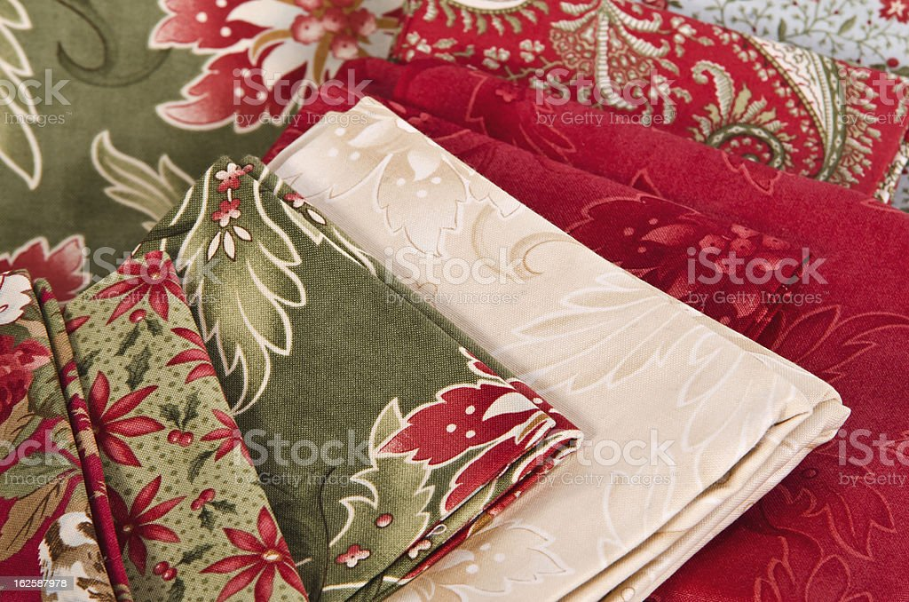 Quilting fabrics royalty-free stock photo