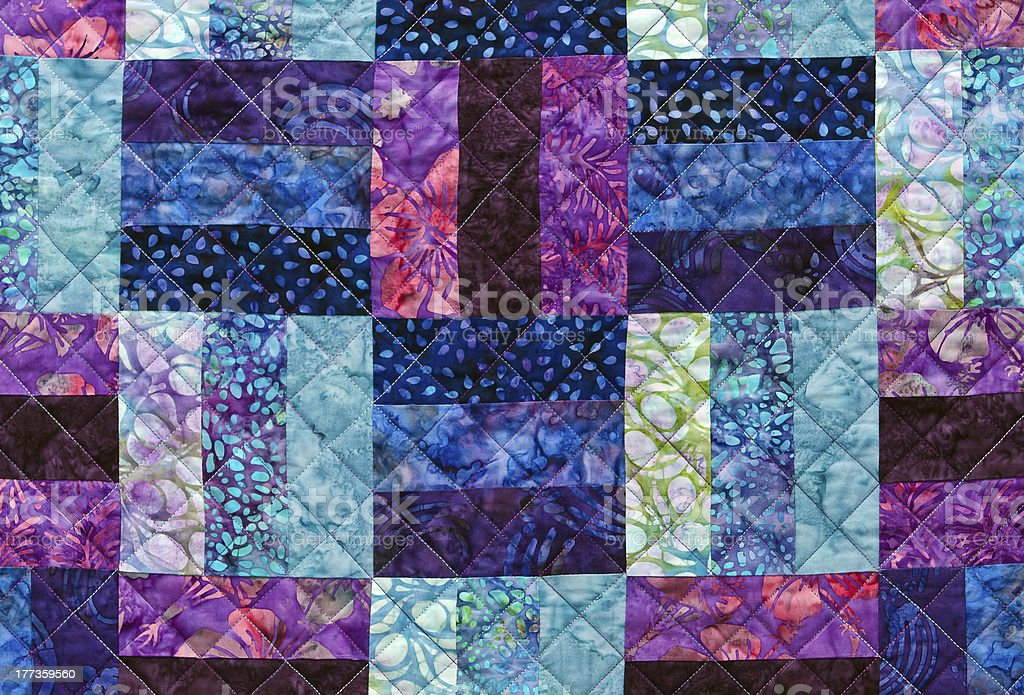 Quilting pattern stock photo