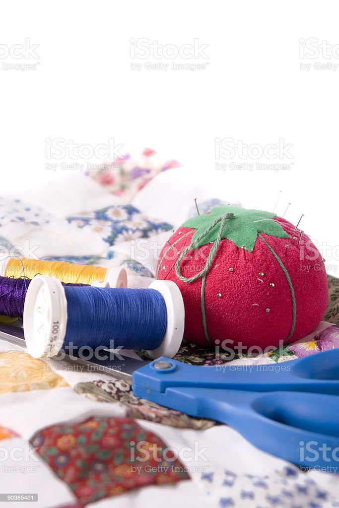 Quilting royalty-free stock photo
