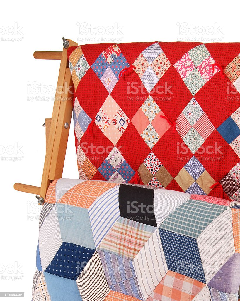 Quilts On A Rack royalty-free stock photo