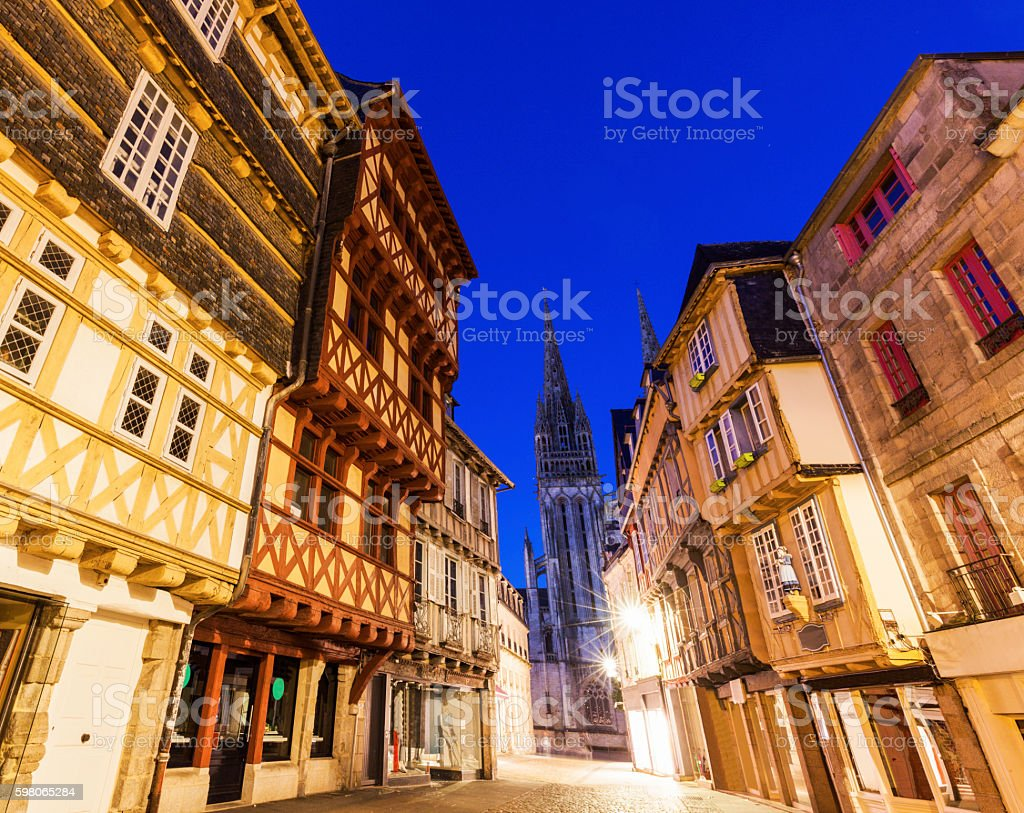 Quimper Cathedral stock photo