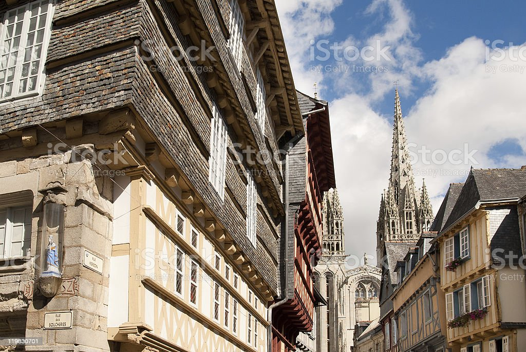quimper in brittany stock photo