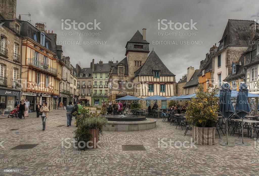 Quimper (Brittany) - Place de la Terre au Duc stock photo