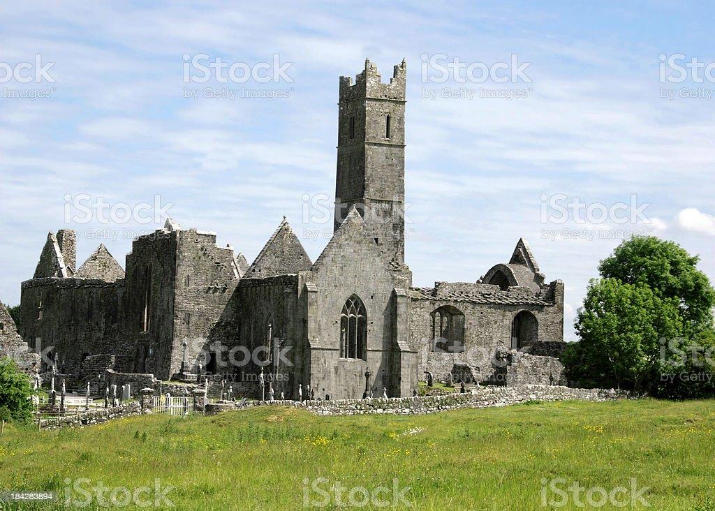 Quin Friary Ireland royalty-free stock photo