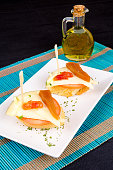 Quince and cheese tapa