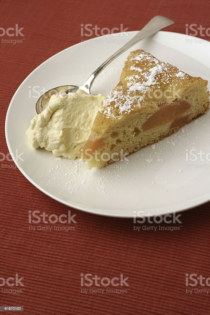Quince batter cake royalty-free stock photo
